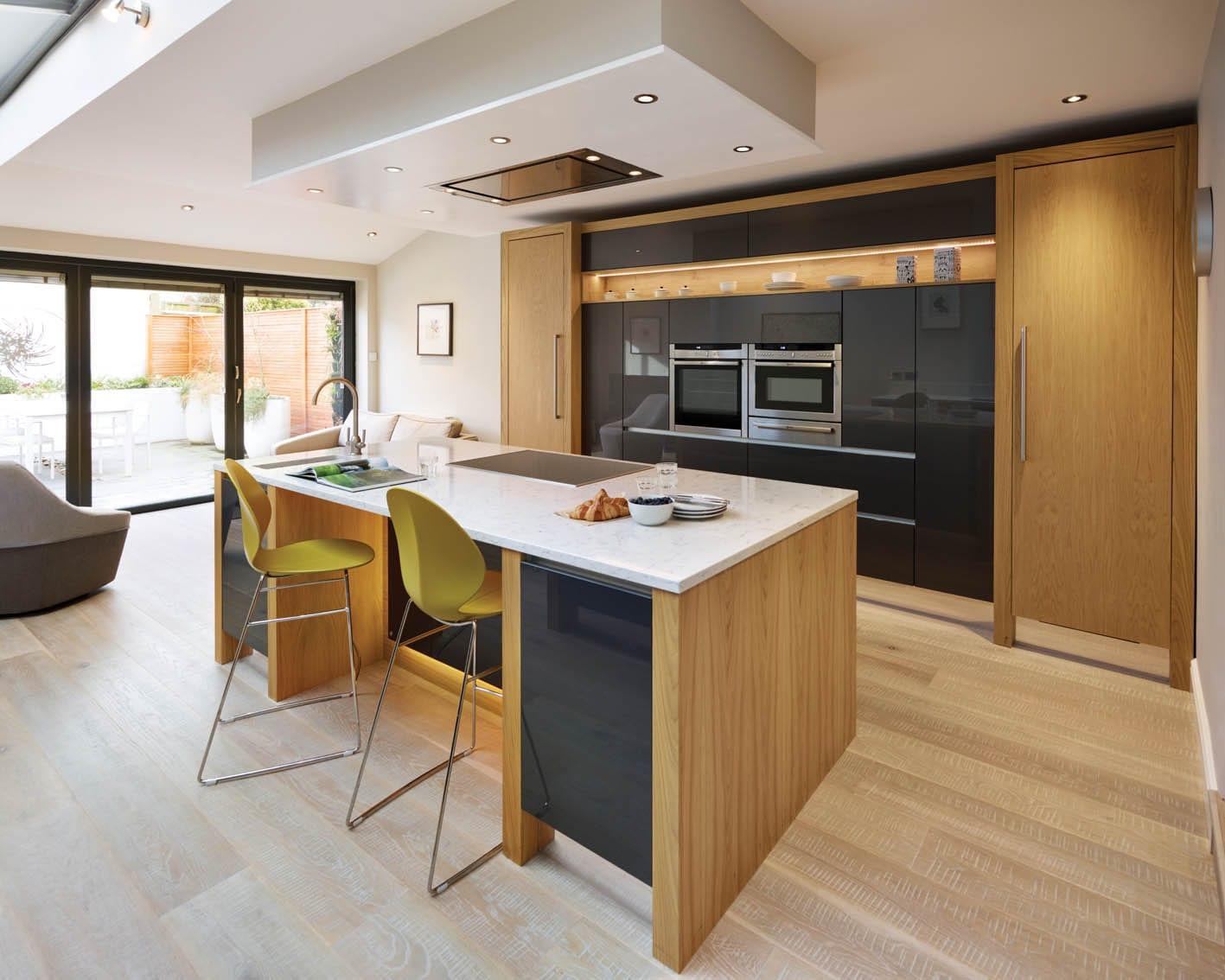Modern Kitchen With Wooden Finish